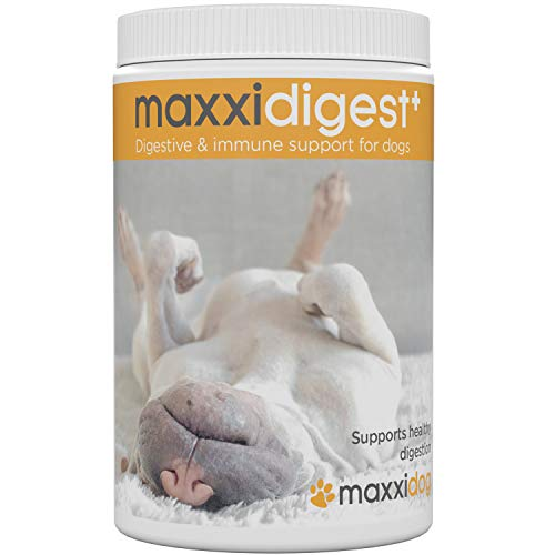 maxxidigest+ Sistema Digestivo e Inmunológico - Enzimas Digestivas para Mascotas - Caninos Probióticos y Prebióticos - Polvos 375g y 200 g (375g)