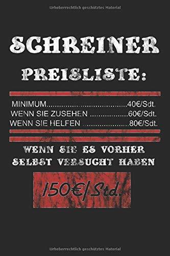 Kassenbuch für Schreiner: Preisliste und Stundensätze für Schreiner