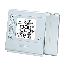 La Crosse Technology WT517 Radio-Controlled Alarm Clock with Projection Silver