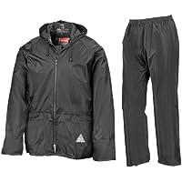 Chaqueta y pantalones impermeables, de Result, Hombre, color negro, tamaño M