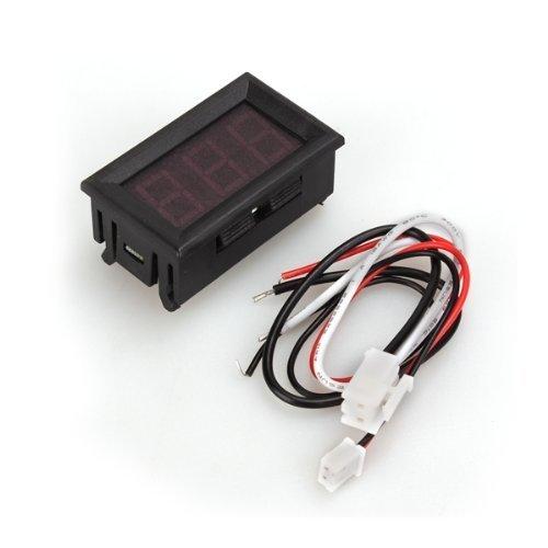 COLEMETER Amperometro da Pannello DC 0-10A Misuratore Corrente Tester LED Rosso