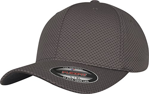Flexfit 3D Hexagon Jersey Cap Kape, Darkgrey, L/XL