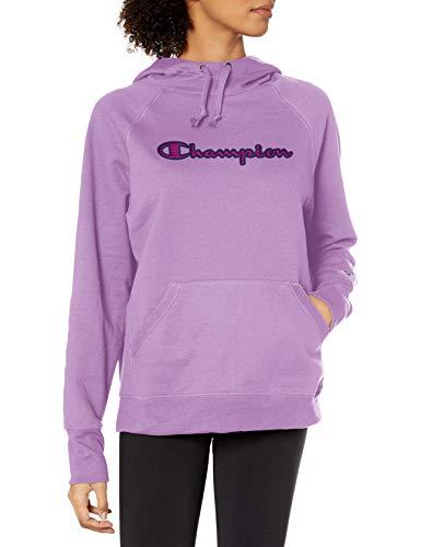 Champion Women's Hoodie, Water Iris, Large