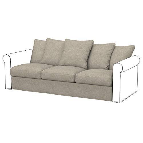 Soferia Funda de Repuesto para IKEA GRONLID módulos sofá de 3 plazas, Tela Strong Taupe, Beige