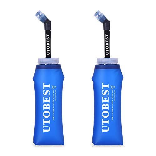 UTOBEST Soft Flask TPU Botella Hidratacion Running Trail Botella de Agua Flexible 600ml