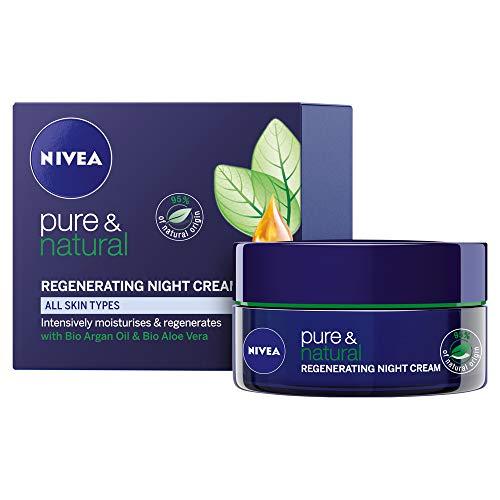 NIVEA Pure & Natural Regenerating Night Cream, 50ml