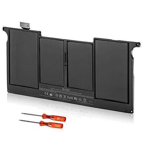 SLODA Nouveau Batterie Ordinateur Portable Pour Apple A1375 A1370 (2010 Version) 661-5736 020-6920-A 020-6920-B, MacBook Air 11 pouces MC505 MC506 MC505LL / A MC506LL / A MC507LL / A [Li-Polymer 7.4v 5200mAh]