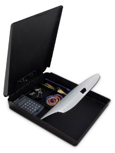 Saunders 00468 DeskMate Portable Desktop Kunststoff-Klemmbrett mit Innenfach, schwarz