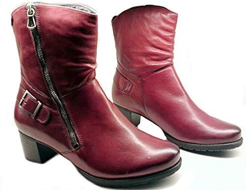 Mephisto Delana Damen Stiefel, Oxblood Red Leather Medium, Rot - rot - Größe: 41 EU