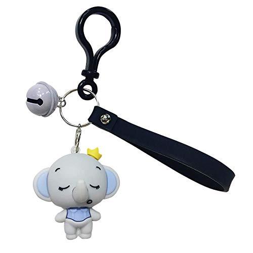 Yanxinejoy tas accessoires, epoxy olifant sleutelhanger, paar geschenken, gepersonaliseerde eenvoudige bel hanger vd