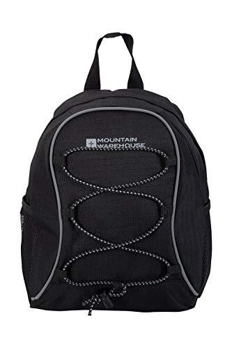 Mountain Warehouse Mini Trek Rucksack - 6 Liter - 2 Flaschenfächer, bequemer Minirucksack, leichte Tasche - Ideal für Herren und Damen - Für Radfahren, Laufen, Reisen, Frühling Schwarz