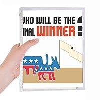 最後の選挙勝者 硬質プラスチックルーズリーフノートノート