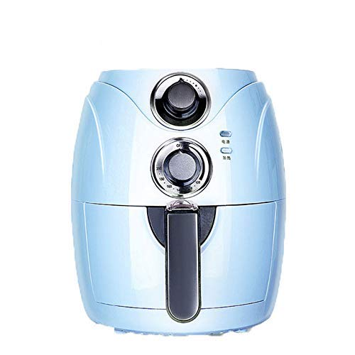 2.5L Automatic Fryer Air Fry Fries Machine Household Mini Air Fryer Fully Automatic Intelligent No Fuel Electric Deep Fryer Oven UK Light Blue