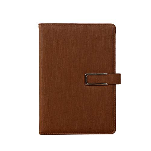 YeahiBaby Bloc-Notes de Calendrier pour Bloc-Notes en Cuir PU A5 Memo pour Le Bureau de l'école à la Maison (Brun 100 Pages)