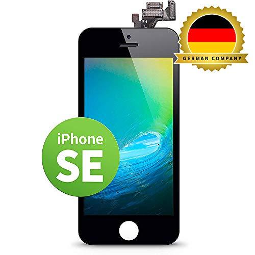 GIGA Fixxoo kompatibel mit iPhone SE LCD Touchscreen Retina Display Ersatz in Schwarz für Einfache Reparatur, FaceTime Kamera (kein Set)