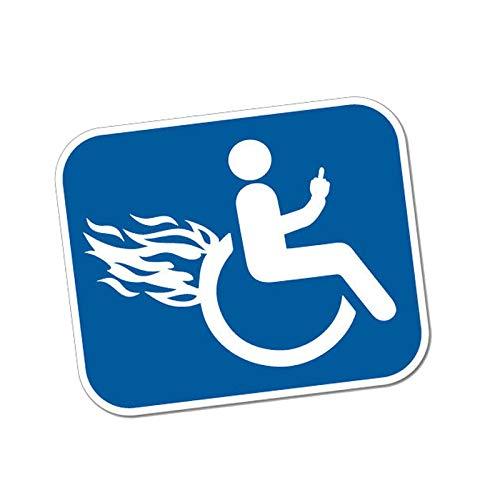 ZCZWQ Etiqueta de Etiqueta Discapacitados Discapacitados Violent Silla de Ruedas Vinilo Motocicleta Pegatina de Coche 12.7cmx10.4cm