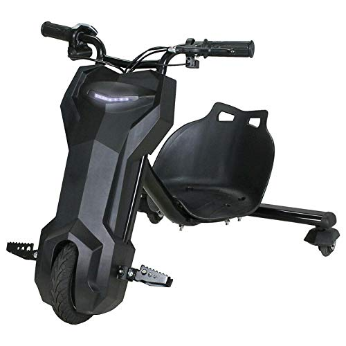 Elektro Driftscooter Kinder Dreirad 250W mit Elektromotor 3 Geschwindigkeitsstufen 15km/h 360° Gokart Drift Trike Scooter Roller