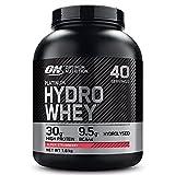 Optimum Nutrition Hydro Whey, Proteinas Whey en Polvo, Proteina de Suero para Masa Muscular y Musculacion, Fuente de BCAA, Bajo en Calorías, Fresa, 40 Porciones, 1.6 kg, el Envase Puede Variar