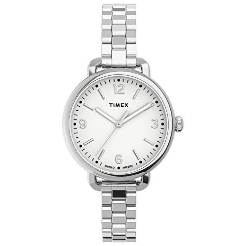 Timex Women's Standard Demi 30mm Quartz Stainless Steel Strap, Silver, 10 Casual Watch (Model: TW2U60300VQ)