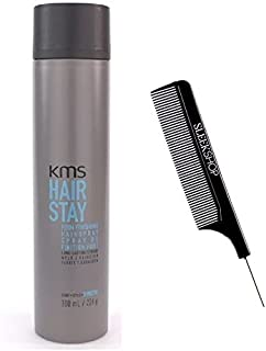 KMS Hair Stay Firm Finishing Hairspray - 8.8 oz (with free Sleek Steel Pin Comb)