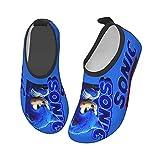 GOYEUAFFA Sonic The Hedgehog Kids Swim Water Shoes, Quick Dry Water Skin Barefoot Sports Shoes, Aqua Socks for Beach Outdoor Sports, for Boys Girls 26/27