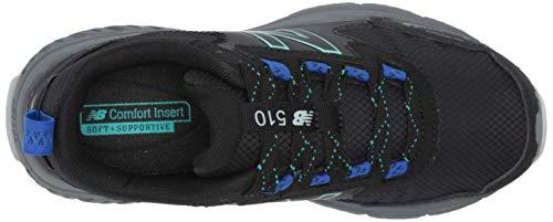 New Balance Women's 510 V5 Trail Running Shoe, Black/Lead/Tidepool, 9