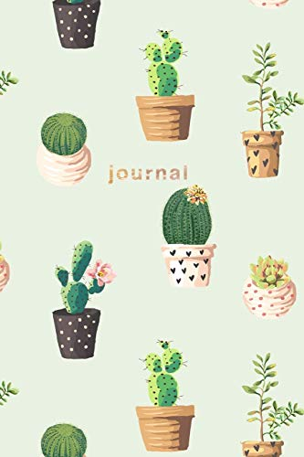 Journal: Green Cactus Notebook 175-Page College-Ruled Cactus Journal (Cactus Journals) (Volume 1)
