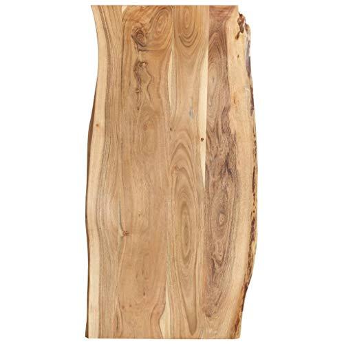 vidaXL Massivholz Tischplatte Baumkante Massivholzplatte Akazie 120x60x2,5 cm