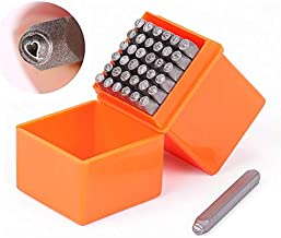 HORUSDY 37-Piece Number & Capital Letter Stamp Set (A-Z & 0-9 + Love) Punch Perfect for Imprinting Metal, Plastic, Wood, Leather, 1/8 (3mm) (37-Piece)