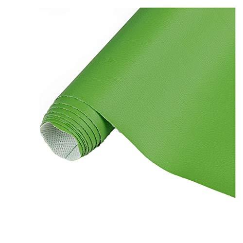 Tela de Polipiel para Tapizar Tela de Imitación de Cuero Parche Cuero Ancho 160cm para Sofá Asiento de Coche Muebles Chaquetas Bolso Polipiel para Tapizar(Size:1.6x1m/5.25x3.28ft,Color:Verde c)