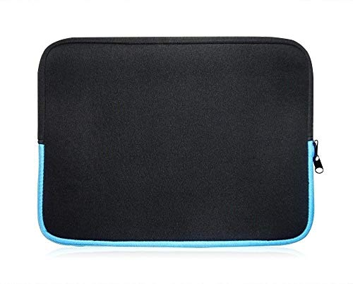 Sweet Tech SCHWARZ/BLAU Laptop Schutzhülle Laptoptasche Neoprene, Sleeve Case Laptophülle Notebook Hülle Tasche für HP ProBook 430 G6 Laptop 13.3 Inch