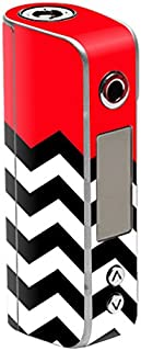 MightySkins Skin Compatible with Sigelei Spark 90W TC – Red Chevron | Protective, Durable, and Unique Vinyl Decal wrap Cover | Easy to Apply, Remove, and Change Styles | Made in The USA