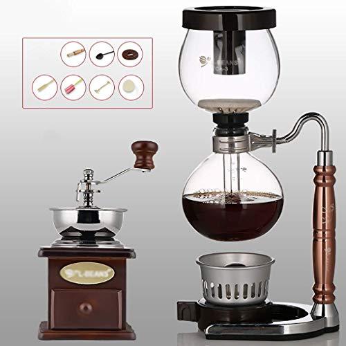 PXX Manual Coffee Grinder -Siphon Cafetera Conjunto Sifón Ovejas Del Zodiaco Totem Sifón Cafetera 3 Ventosas Máquinas de Café