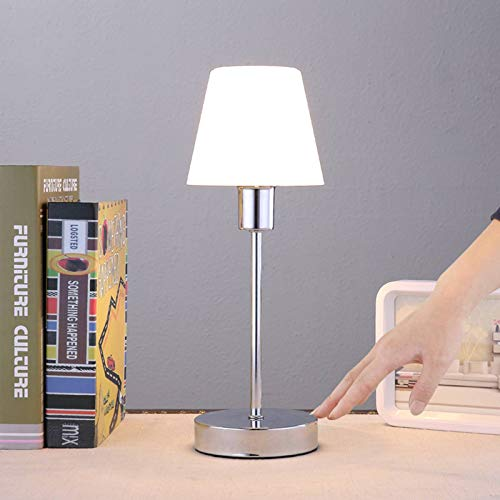 Lindby Tischlampe 'Sascha' (Modern) in Weiß aus Metall u.a. für Schlafzimmer (1 flammig, E14, A++) - Nachttischleuchte, Schreibtischlampe, Nachttischlampe, Schlafzimmerleuchte