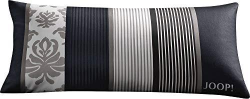 Joop! Kissenbezug Ornament Stripe Mako-Satin schwarz Größe 40x80 cm