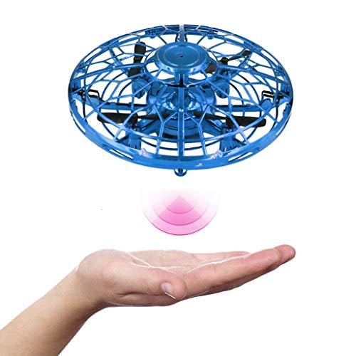 OPALLEY UFO Mini Drohne Handgesteuerte Flugdrohne Infrarot-Induktion Wiederaufladbares Flugspielzeug Kinderspielzeug Fliegendes Spielzeug Geschenke für Kinder Indoor Outdoor Fliegender Ball (Blau)