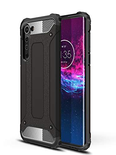 DAMONDY Moto Edge Case,Moto Edge 5G Case,Full Body Soft TPU Bumper Military Grade Shockproof Drop Protection Cover Designed for Motorola Moto Edge 5G -Black