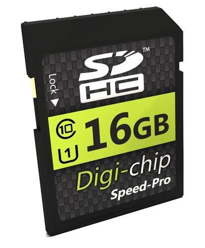 Digi-Chip 16GB UHS-1 CLASS 10 SD SDHC Speicherkarte für Canon Powershot G7 X, IXUS 165, IXUS 160, IXUS 170, IXUS 275 HS, PS GS X & Canon XC10