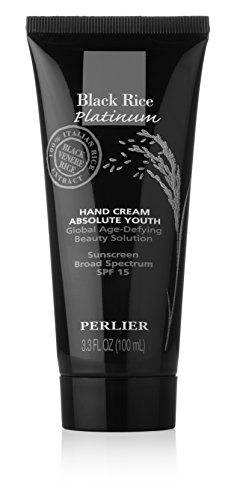Perlier Black Rice Platinum Absolute Youth Hand Cream SPF 15, 3.3 Fluid Ounce