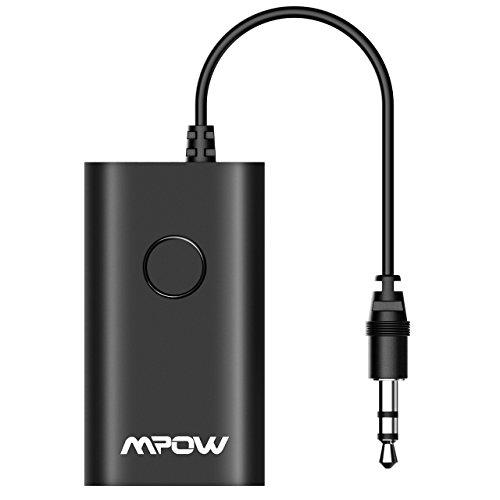 Mpow Transmisor Bluetooth Coche , Adaptador Bluetooth Transmisor Jack 3.5mm A2DP , Emisor Bluetooth Inalambricos de Audio de para TV , PC, Tablet, MP3/MP4, DVD,iPod.Kindle etc