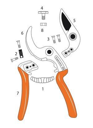 CASTELLARI Lame rechange Ergo 5pour ciseaux ergonomic