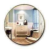 zcyg Espejo baño Espejos Pared Mirror Espejo De Pared, Aleación De Aluminio Nórdico Espejo De Baño De Pared De Espejo De Pared De Pared(Size:50cm,Color:Oro)