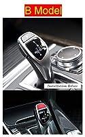 Wishful 車のスタイルスタイルのギアシフトハンドルスリーブボタンパネルカバーステッカートリムフィットBMW 5シリーズF18オートインテリアアクセサリー (Color Name : B Model Red)