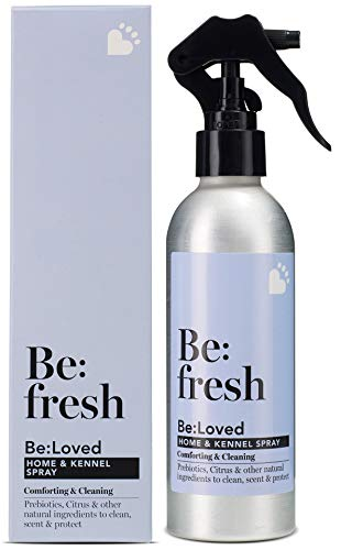 Be:fresh Natural Pet Odour Eliminating Home & Kennel Spray, Freshen Pet Bedding, Kills Germs & Cleans, Safe for Pets - 200ml Spray Bottle
