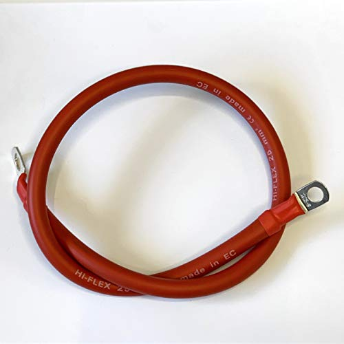 Pickup Battery Lead 4x4 Boat etc Van Strap XtremeAuto/® POSITIVE // LIVE Pole Cable FOR Car RED 49//1219mm