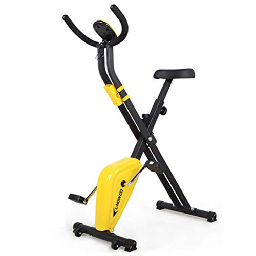 YOT Spin Bike Pieghevole Cyclette Indoor Cardio Workout Macchina Upright Bike Home Gym 220 Lbs Peso Massimo 154lbs Giallo