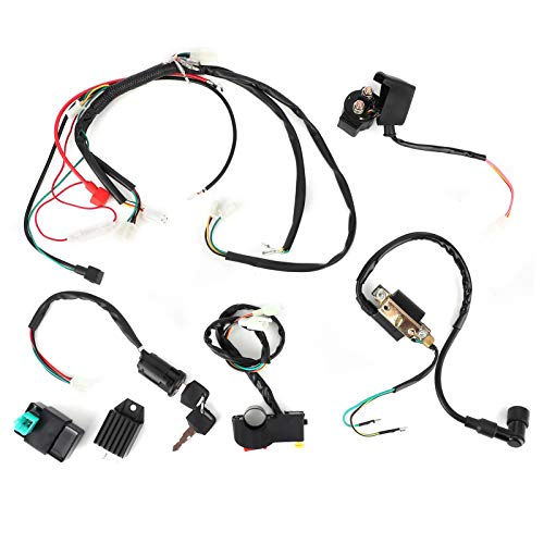 Tomanbery Cable de Encendido del Manillar Interruptor de Bobina de Unidad CDI eléctrica para Piezas de Repuesto para 50cc 110cc 125cc Pit Quad Dirt Bike ATV