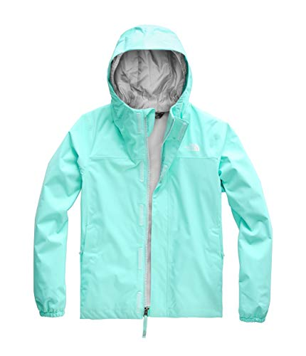 The North Face Girls Resolve Reflective Jacket, Mint Blue, Large