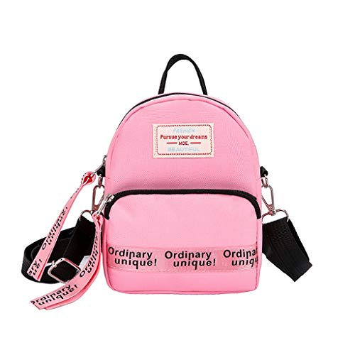 Dasongff Mini-rugzak, dames, elegante schoudertas, mini-schooltas, boodschappentas, schoudertas, kleine schoudertas, dames, vrouwen, schoudertas, crossbody tas F roze