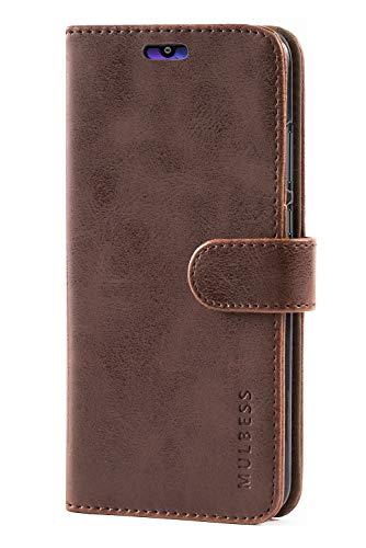 Mulbess Handyhülle für Honor 10 Lite Hülle, Leder Flip Case Schutzhülle für Huawei P Smart 2019 / Honor10 Lite Tasche, Vintage Braun - 3